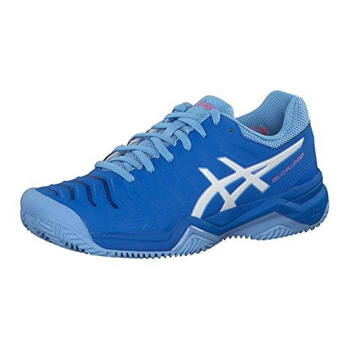 Preisvergleich Produktbild ASICS Damen Gel-Challenger 11 Clay Tennisschuhe,  Blau (Electric Blue / White 400)