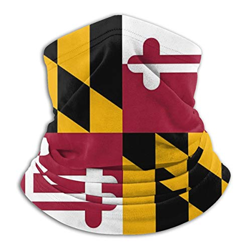 SARA NELL Flag of Maryland Neck Gaiter Face Mask, Sun Guard, Balclava with Sun Protection for Dust, Outdoors, Sun, Sports, Military