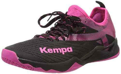 Kempa Wing Lite 2.0 Women Zapatillas De Balonmano para Mujer, Mujer, Negro/Fucsia, 7.5