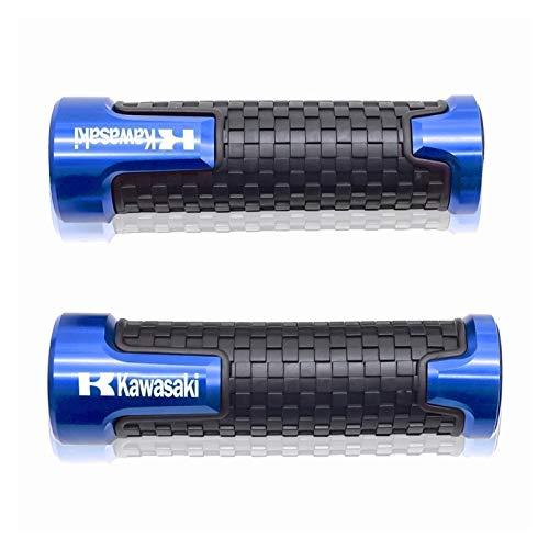 Doremifa HandBar Grips 7/8' CNC Aluminum Rubber Universal Motorcycle Handle Bar Grip Hand Grips For KAW┐ASAKI NINJA 300R/250R ZX6R/636 Pro Taper Grips (Color : Blue)