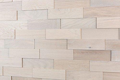 wodewa Paneles de Madera Para Pared Roble ártico I 1m² Revestimiento de Paredes 3D Panel Decorativo Madera Interior Sala de Estar Cocina Dormitorio Mural Panel Madera