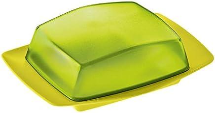 Koziol Butterdose Rio, Kunststoff, senfgrün mit transparent olivgrün, 12.1 x 17.5 x 5.8 cm preisvergleich bei geschirr-verleih.eu