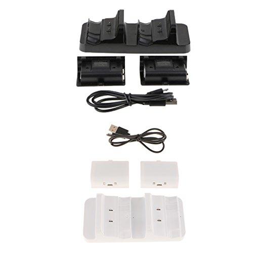 H Hilabee - Base de carga con batería para Xbox One S (2 unidades): Amazon.es: Videojuegos