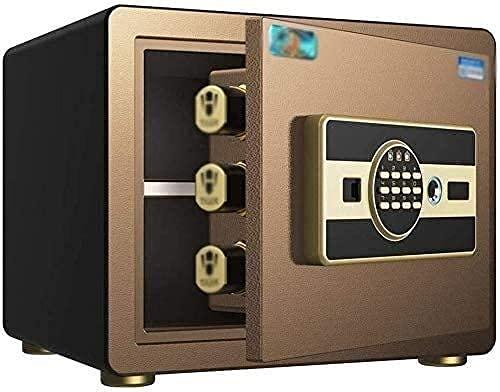 Caja fuerte, cajas fuertes y hucha, cajas de seguridad para el hogar, caja fuerte digital inteligente para huellas dactilares Caja fuerte electrónica de acero para dinero Gabinete de seguridad Caja fu