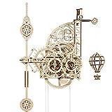 UGEARS Puzzle 3D de Reloj de Péndulo - El Aerorreloj - Aero Clock - Maquetas para Montar de Relojes de Péndulo de Pared - Maquetas de Madera mecánicas - Maquetas para Construir para Adultos y niños