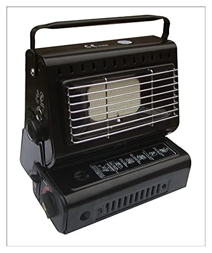 YINZHI Nuevo Calentador de calefactores al Aire Libre Calentador de Gas 1.3kw Viajar Camping Senderismo Equipo de Picnic Uso de Doble Uso Estufa Hierro (Color : Black)