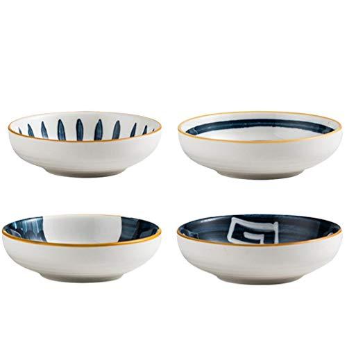 Hemoton, set di 4 ciotole in ceramica per salsa di pomodoro e soia