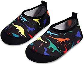 JIASUQI Babys Girls Boys Comfort Walking Water Shoes for Outdoor Swimming Multi Dinosaur 6-12 Months
