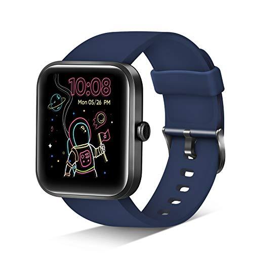 Smart Watch, Reloj inteligente monitor actividad, 1.69 inch touch men/women, Alexa, Monitor de frecuencia cardíaca saturación de oxígeno en sangre, waterproof,14 modos fitness (Android ios)
