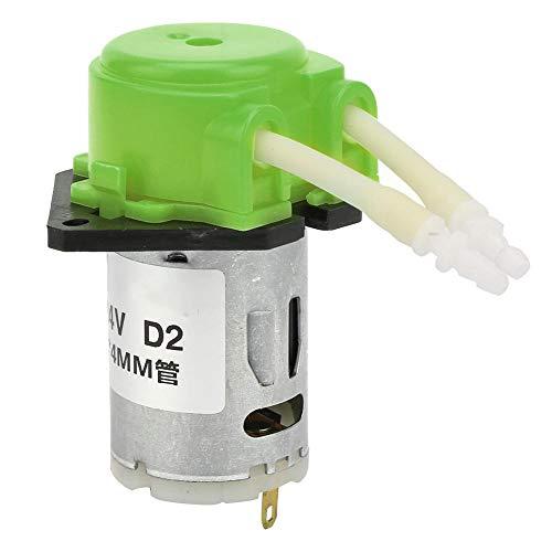 D-2 DC 24V Peristaltische Flüssigkeitspumpe Selbstansaugende Laborpumpe mit konstantem Durchfluss 2 * 4 mm(Green)