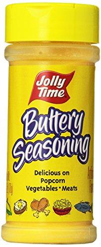 Jolly Time Buttery Popcorn Seasoning - Movie Theatre Popcorn Salt Powder, 6-Ounce Jars (Pack of 12)