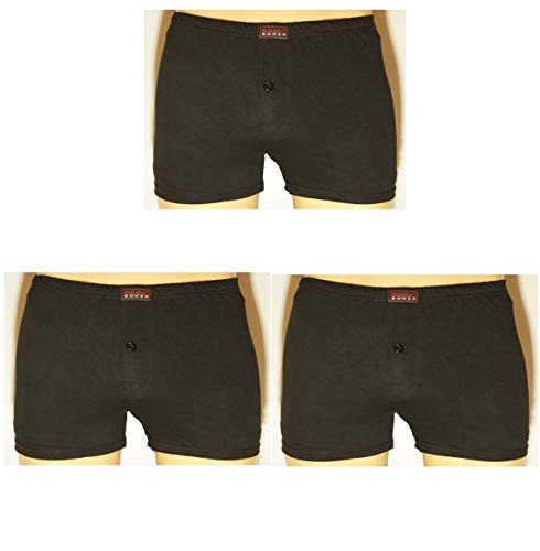 Basic 3-Pack Heren boxershorts Zwart maat 6XL