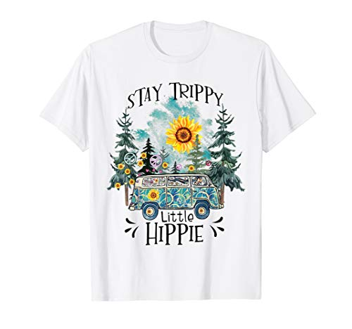 Womans Stay Trippy Little Hippie Shirt Hippy Camping Gift