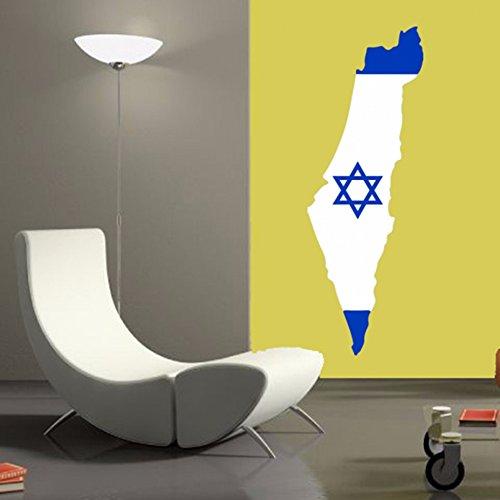 DIYthinker Israëlische vlag kaart van Israël muur Vinyl Sticker Aangepaste Home Decoratie Muursticker Bruiloft Decoratie Pvc Wallpaper Mode Ontwerp