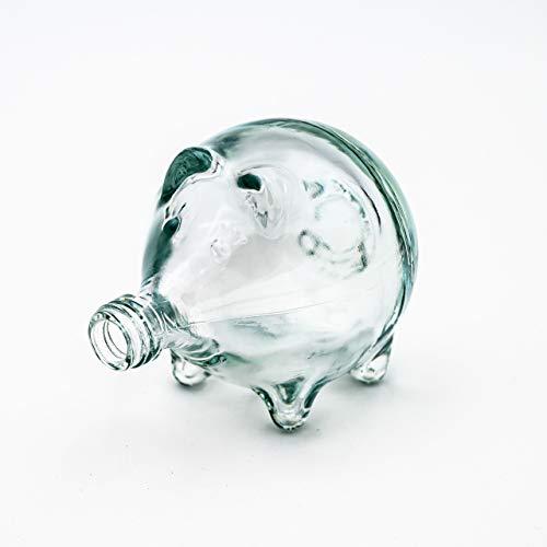 Flaschenbauer Glasflasche Glückschwein: 6X Mini Glücksschwein mit passenden Schraubverschluss verwendbar als Geburtstags-, Hochzeitsgeschenk, kleine Flaschen zum Befüllen, Leere Schnapsflasche klein.