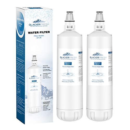 GLACIER FRESH 7012333 Ice Maker Water Filter, Compatible With Sub-Zero 7012333 Water Filter, UC-15 Ice Maker Water Filter Replacement, Manitowoc K00374 (2 Pack)