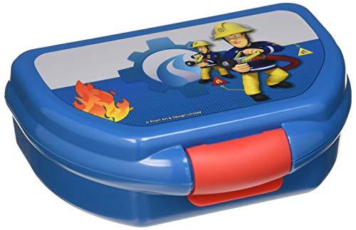 POS 25275 - Brotdose mit Feuerwehrmann Sam Motiv, circa 17 x 13,5 x 5,5 cm, aus Kunststoff, bpa- und phthalatfrei, ideal für die Frühstückspause, für Kindergarten und Schule