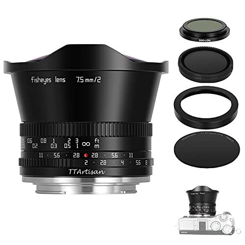 TTArtisan 7.5mm F2.0, lente de ampliación MF, objetivo de cámara compatible con cámaras EOS M Mount M1 M2 M3 M5 M6 M61 M10 M100 M50.(EOS M-Mount)