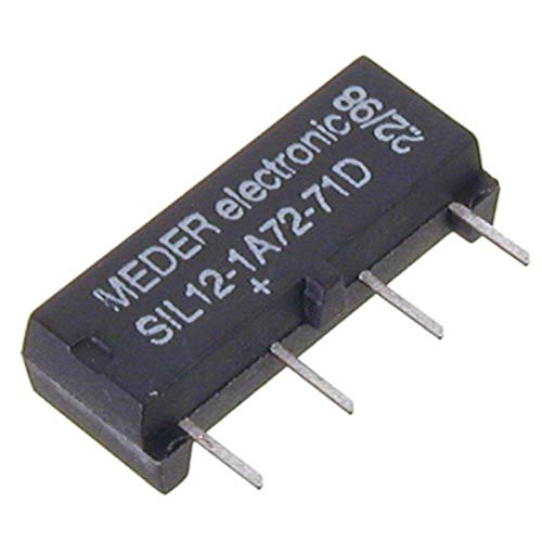 SIA12D-1K SIL-Reed-Relais 12V= 1xEIN 1000 Ohm +Diode par.