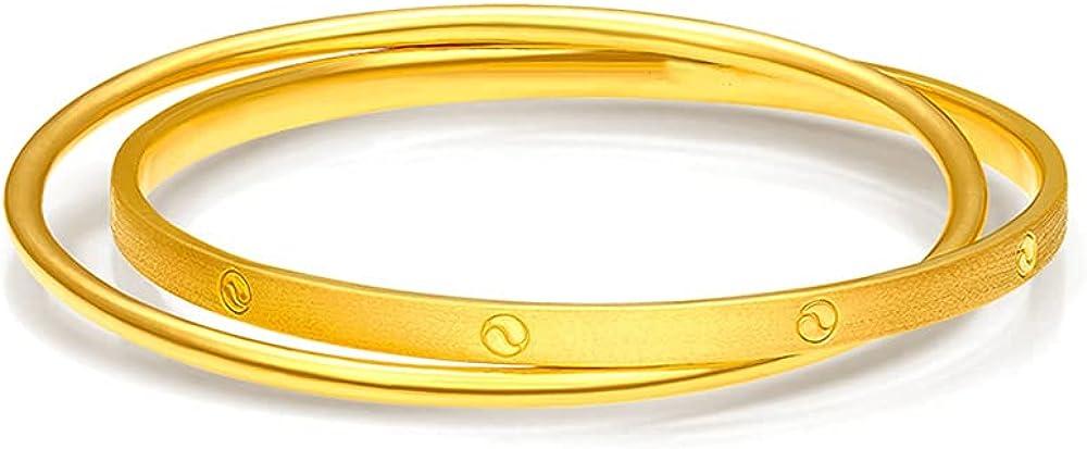 De Lapoll Solid 24K Finally popular brand 999 Women's for Bracelet Free shipping / New Bangle Gold Ladies