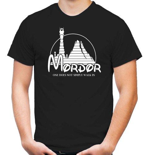 Mordor T-Shirt | Herr der Ringe | Kult | Machtzentrum | Herren | Männer | Der eine Ring | Mein Schatz | Fun (XXL)
