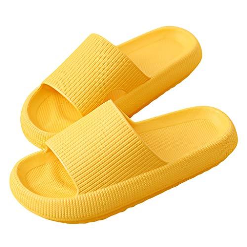 Geilisungren Herren Damen Badeschuhe Damen Slides Sandalen Hausschuhe Herren Sommer Garten Badelatschen rutschfest Plattform Pantoletten Badeschlappen