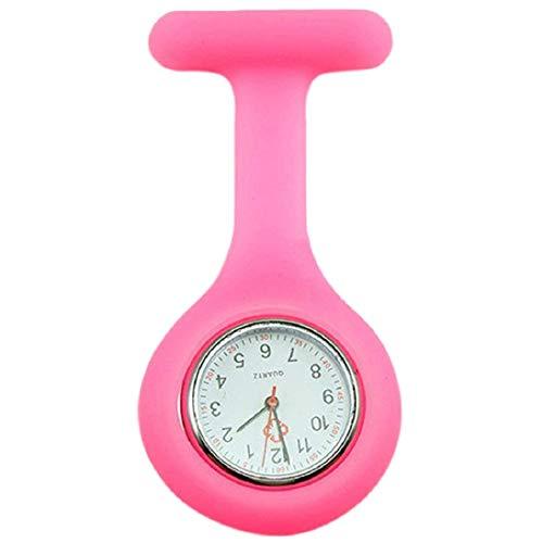 Fliyeong Reloj de Enfermera de Silicona Broche de Bolsillo túnica Movimiento de Cuarzo Reloj Durable y úti