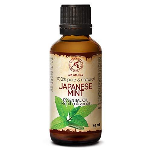 Minzöl - Japanische Minze Öl 50ml - Mentha Arvensis - für Guten Schlaf - Stressabbau - Sauna - Körperpflege - Massage - SPA - Raumduft - Aroma Diffuser - Duftlampe -Reines und Natürliche JHP Minzöl