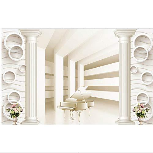 Zyzdsd Wall Decoration Roman Spalte Raum Zur Erweiterung Der Piano Tv Hintergrundbild 3D Wandbild Tapete-120X100CM