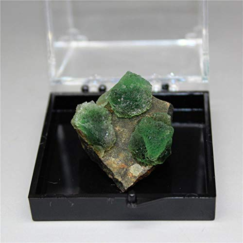 KAPU 100% Natural Rare Stepped Spherical Green Mineral Specimens Stones And Crystals Healing Crystal Send Box,Box Size 51Mm