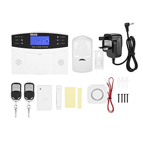 Caiqinlen Sistema de Alarma de Seguridad para el hogar, Reloj con Calendario Incorporado de Voz de Persona Real,(British regulations (100-240V))