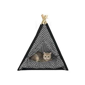 YSYW Carpa para Mascotas Lona Portátil Teepee para Mascotas Tienda De Campaña Cama Plegable para Gatos Cachorro De Perro Casa De Animales Pequeños 16