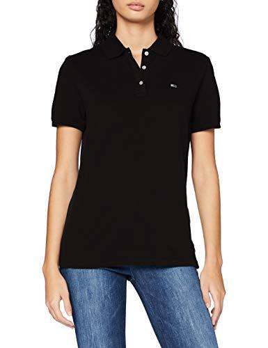 Tommy Hilfiger Tjw Slim Polo Camiseta, Negro, XS para Mujer