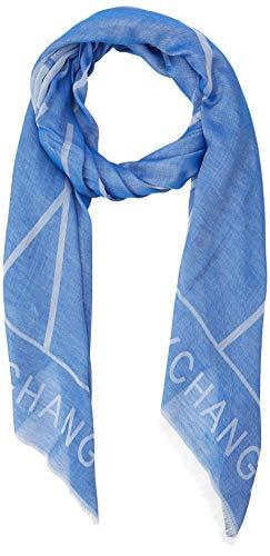 Armani Exchange Herren Logo Scarf Mütze, Schal & Handschuh-Set, Blau (Ax All Over Marine 59735), One Size (Herstellergröße: TU)