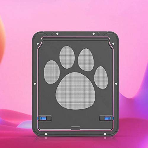 WDSZXH Gatera Puerta Mosquitera Corredera, Puerta Basculante para Gatos y Perros, Puerta para Perros Gatera Mosquitera para Mascotas Domésticos, Material ABS+Malla de Nailon