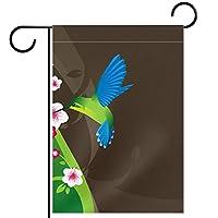 庭の装飾の屋外の印の庭の旗の飾りハチドリ テラスの鉢植えのデッキのため