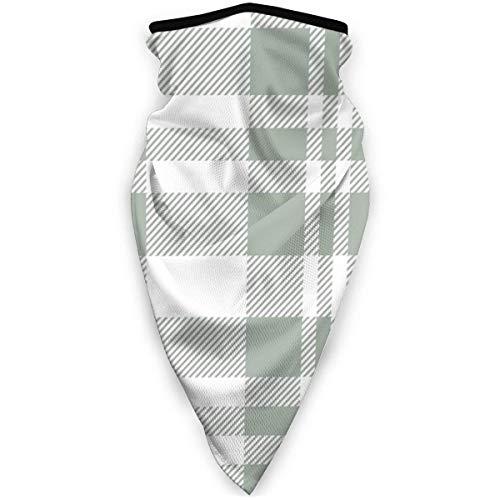 KKs-Shop Hygge Christmas Plaid Pattern Weiß und Grün Unisex Variety Schal Wrap Bandanna Kopfbedeckung Hals Gamaschen Kopftuch Gesicht SFK-664