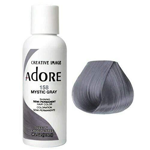 Adore Semi-Permanent Haircolor #158 Mystic Gray 4 Ounce (118ml)