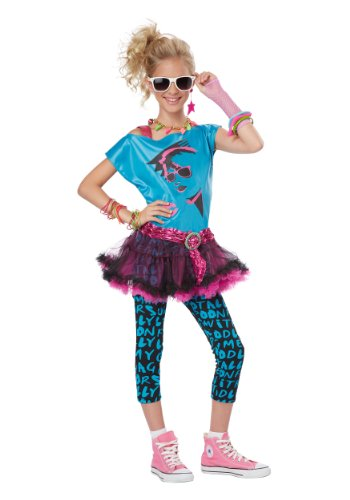 California Costumes 80's Valley Girl Child Costume, Small, Turquoise/Black