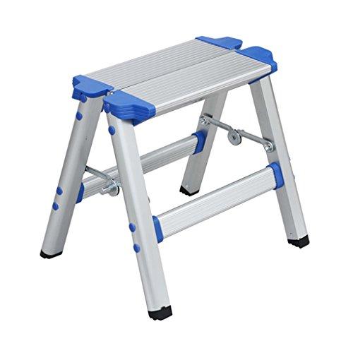 Bao Xing Bei Firm Mehrzweckleitern Home Klappleiter Stuhl Leiter Stuhl tragbare Outdoor Malerei Angeln Hocker (Color : Silver, Size : 31.5 * 16 * 30cm)