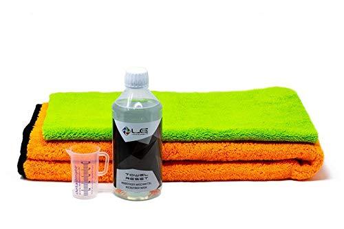 detailmate Liquid Elements: Orange Baby Miro Chiffon en microfibre Biliteral spécialement conçu pour le nettoyage intérieur 500 ml Verre doseur 50 ml