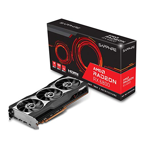 Sapphire 21305-01-20G AMD Radeon RX 6800 Gaming Graphics Card with 16GB GDDR6, AMD RDNA 2