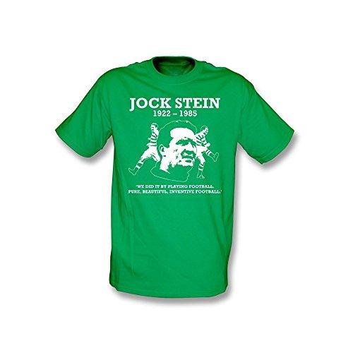 PunkFootball Jock Stein–Puro, Camiseta Hermosa, inventiva del fútbol–tamaño Mediano–Kelly Verde