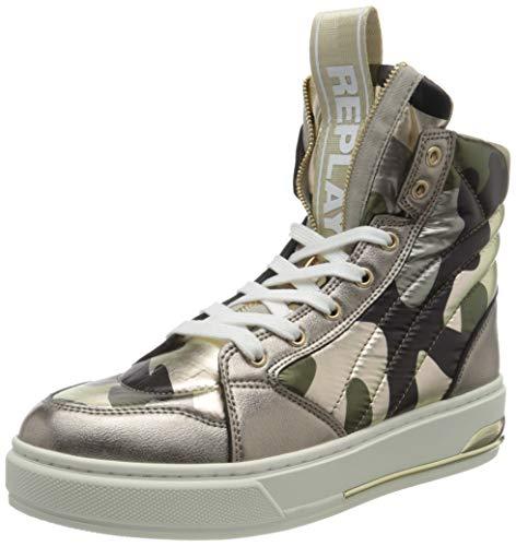 Replay Damen POLYMATH Sneaker, Mehrfarbig 2867 Camo Platin, 41 EU