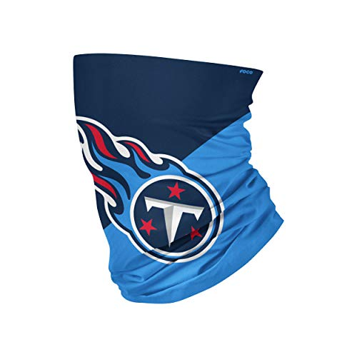 NFL FOCO Tennessee Titans Neck Gaiter, One Size, Big Logo