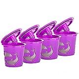 Fauge Tazas K Reutilizables, 4 Piezas para Taza K Reutilizable, para Taza K Reutilizable Kurig 2.0 para Café Americano CláSico