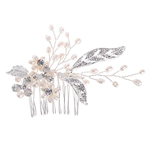 Cuigu Braut Haar Kamm, Handgemachte Perle Strass Haar Kamm Hochzeit Schmuck Headwear Haarnadeln für Frauen