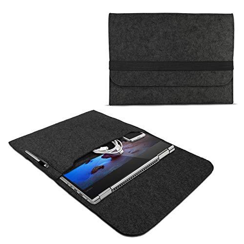 eFabrik ROYALZ Schutzhülle für Lenovo Yoga 530 / Yoga 520 Tasche aus Filz 14 Zoll Filztasche Hülle Sleeve Soft Cover Schutztasche Sleeve, Farbe:Dunkelgrau