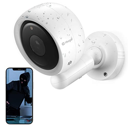 Security Camera Outdoor, 163°1080P Wireless Camera for Home Security, Rechargeable Battery Powered WiFi Security Camera with Colored Night Vision, Click to Call, 2-Way Audio, AI Human Recognition