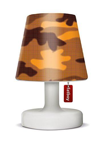 Fatboy Edison The Petit Tischlampe mit Fatboy Lampenschirm Cooper Cappie Camouflage Orange - perfekte Akku LED Leuchte für den In- und Outdoor Bereich